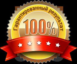 100 % гарантия результата